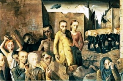 """The Damned"", by Felix Nussbaum (1943-1944)"