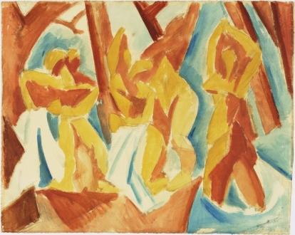 Πάμπλο Πικάσο, Λουόμενες στο δάσος (1908)
