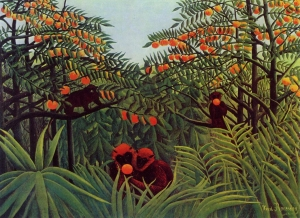 Henri Rousseau, Apes in the Orange Grove (1910)