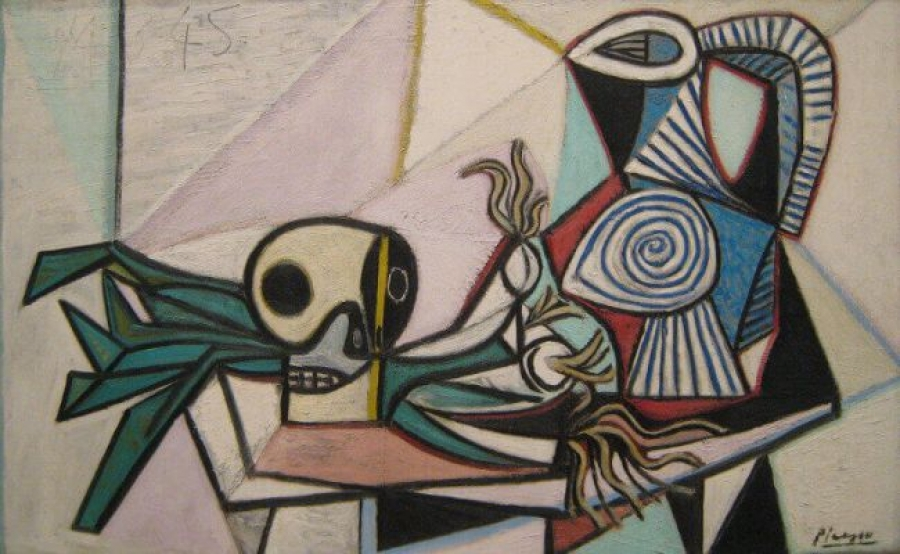 'Still Life with Skull, Leeks and Pitcher', Pablo Picasso, 1945
